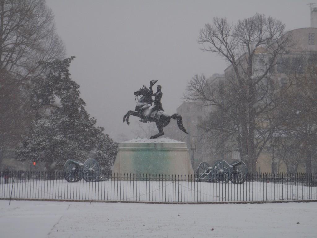 Zdjęcia: przed Białym Domem, DC, Waszyngton, USA