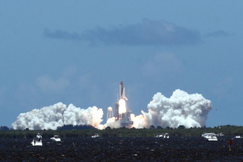 Zdjęcia: Cape Canaveral, Floryda, Start promu kosmicznego, USA