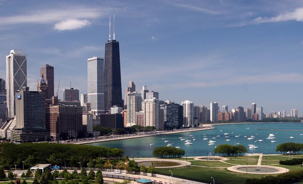 Zdjęcia: Chicago, Illinois, Chicago downtown widziany z Navy Pier, USA