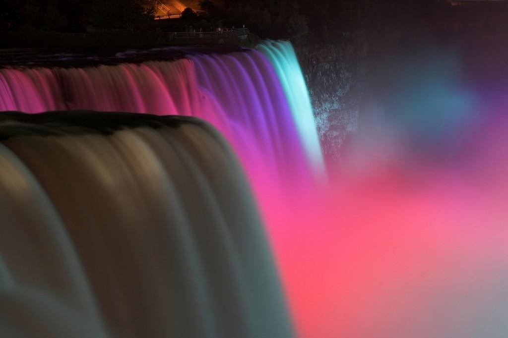 Zdjęcia: Niagara, New York, Niagara nocą, USA