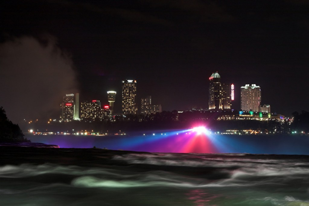 Zdjęcia: Niagara, New York, Niagara nocą - strona kanadyjska, USA