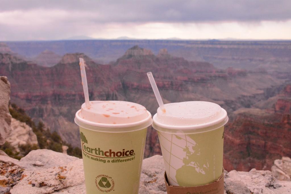 Zdjęcia: North Rim Grand Canyon, Arizona, Kawa nad krawędzią, USA