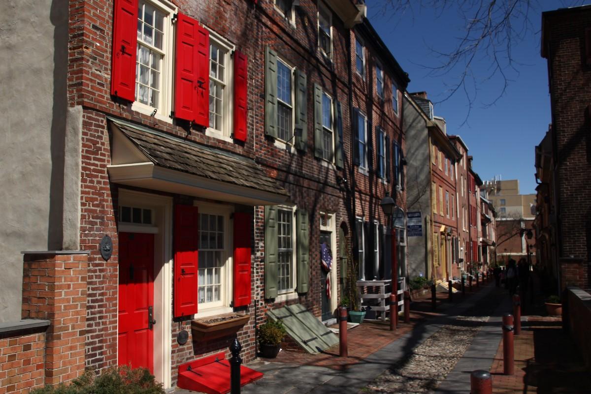 Zdjęcia: Philadelphia, Pensylwania, Elfreth's Alley, USA