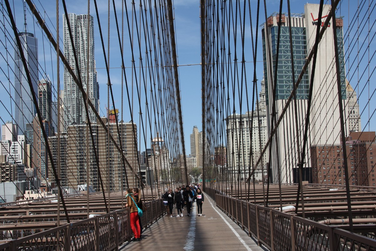 Zdjęcia: Brooklyn Bridge, New York, Ścieżka na Brooklyn, USA