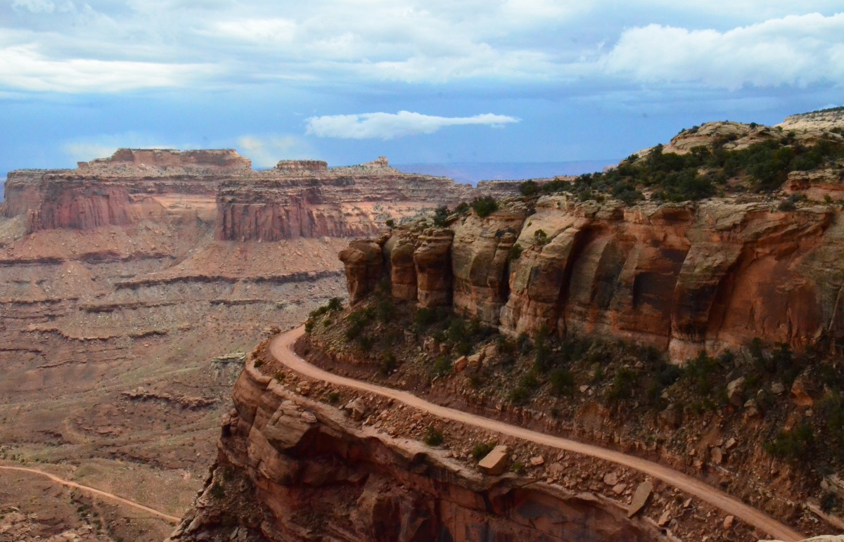 Zdjęcia: Canyonlands N.P., Utah, Shafer road..., USA