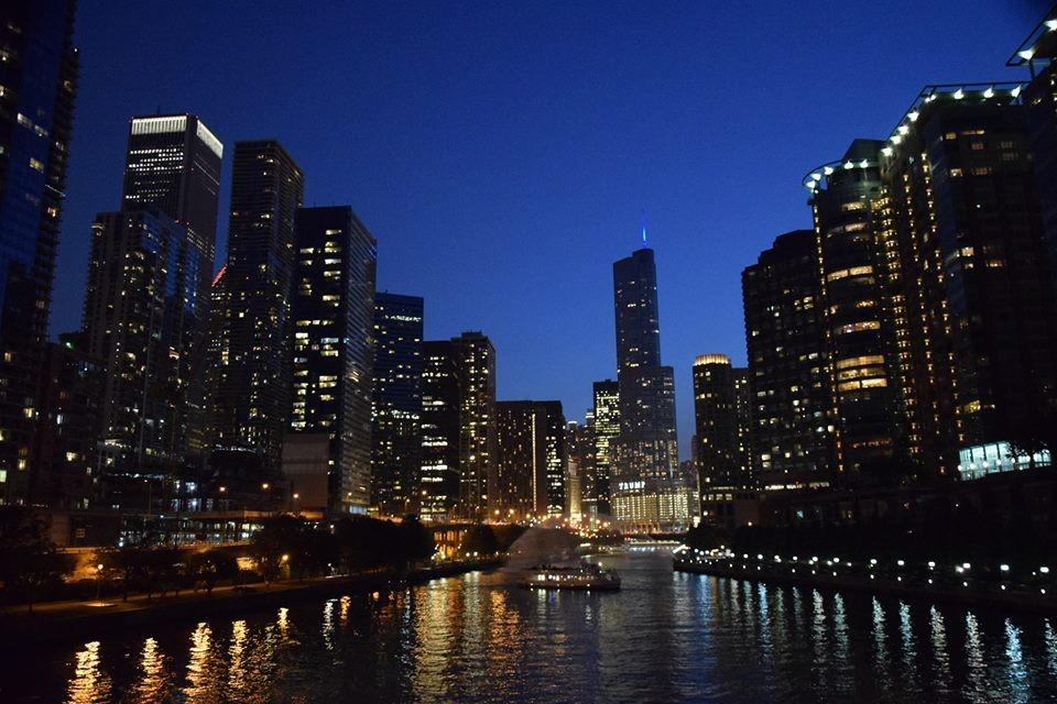 Zdjęcia: Chicago, stan Illinois, Chicago nocą, USA