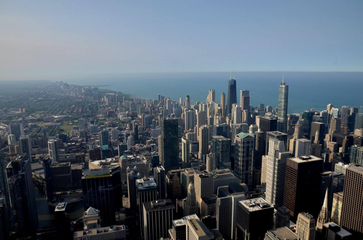 Zdjęcia: Chicago, stan Illinois, Widok na Manchattan ze 102 piętra, USA