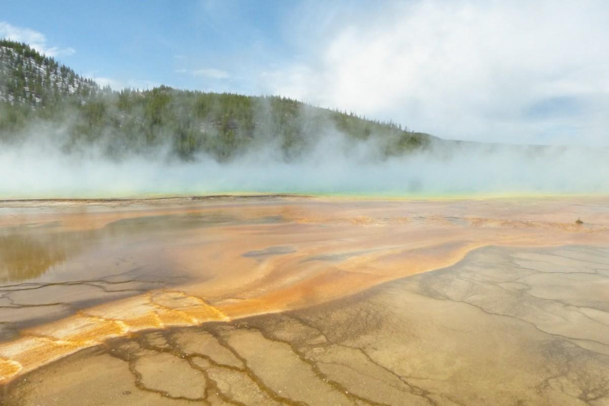 Zdjęcia: PN Yellowstone, Wyoming, Źródło Prismatic, USA