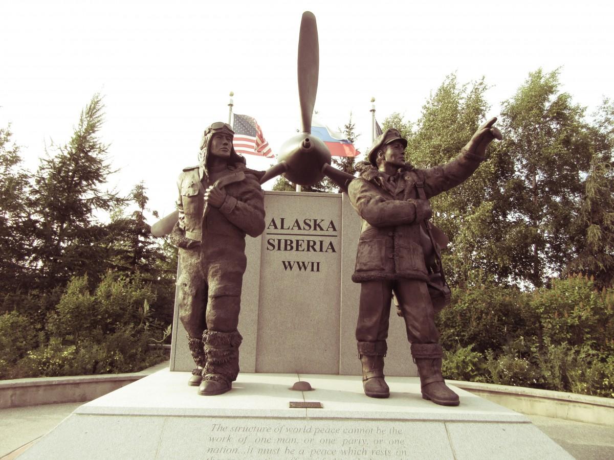 Zdjęcia: Fairbanks - Alaska, Fairbanks - Alaska, Pomoc lotników amerykańskich dla Rosji, USA