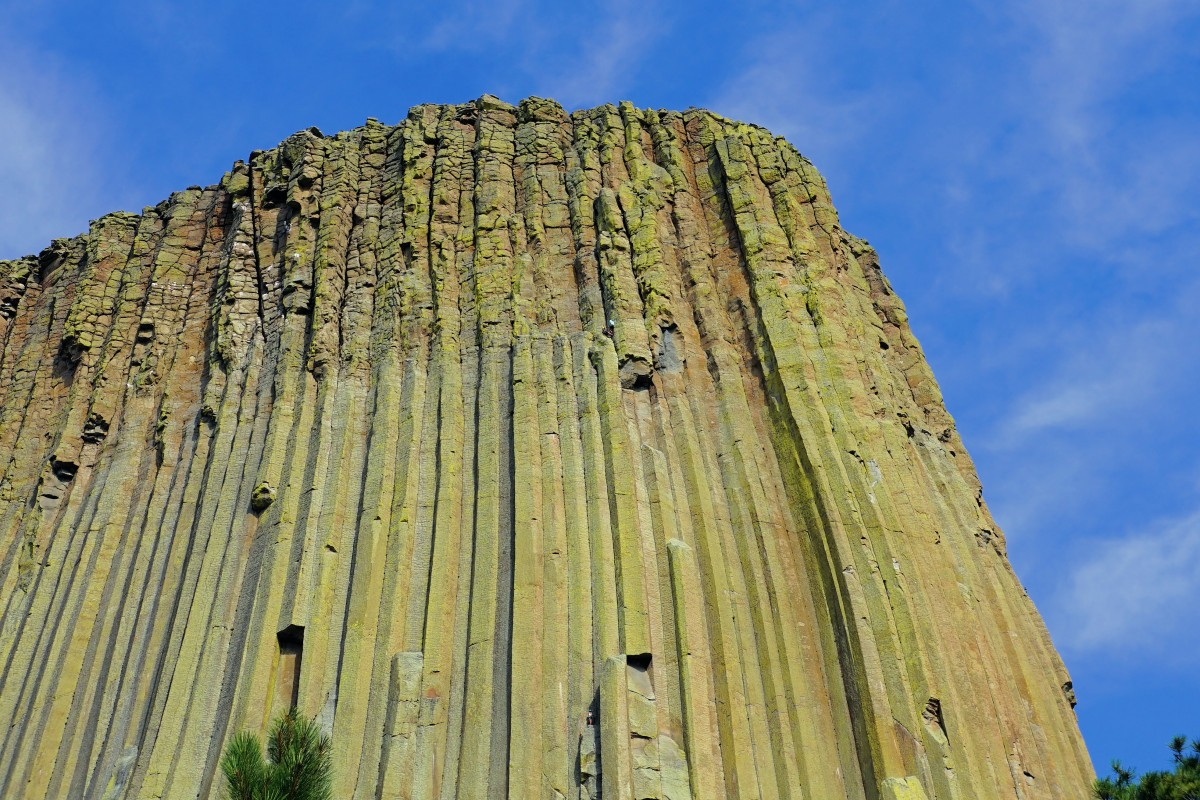 Zdjęcia: Devils Tower National Monument, Wyoming, Wspinacze na Devils Tower, USA