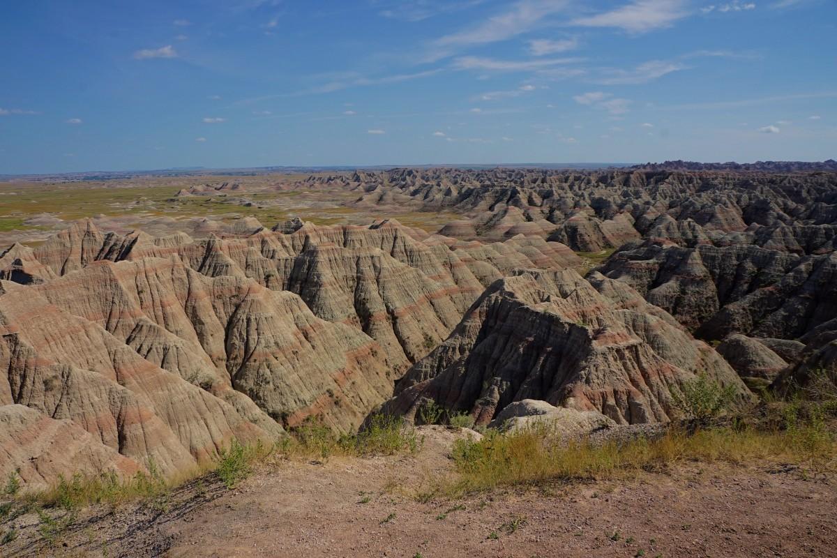 Zdjęcia: Park Narodowy Badlands, Południowa Dakota, Punkt widokowy, część północna, USA