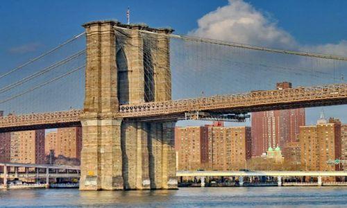 Zdjecie USA / NY / NYC / Przęsło mostu brooklyńskiego
