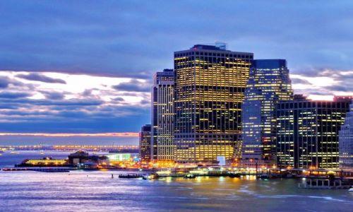Zdjęcie USA / NY / NYC / Widok z Brooklyn Bridge na Manhattan