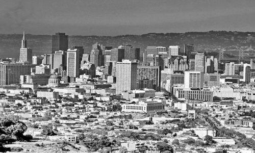 Zdjęcie USA / California / San Francisco / Widok na downtown ze wzgórza Twin Peaks