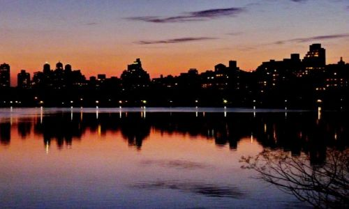 Zdjęcie USA / NY / NYC / Central Park późnym wieczorem
