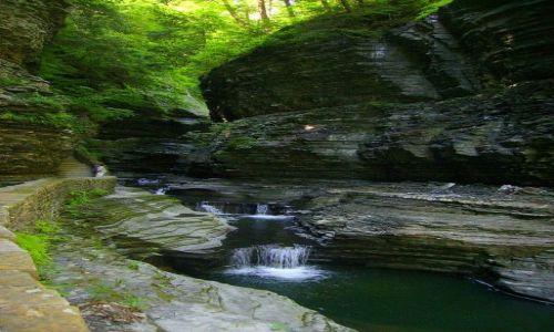 Zdjecie USA / stan Nowy York / Watkins Glen State Park - Finger Lakes / kaskady