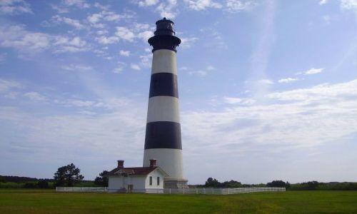 Zdjecie USA / North Carolina / Outer Banks / latarnia morska  na Hatteras Island