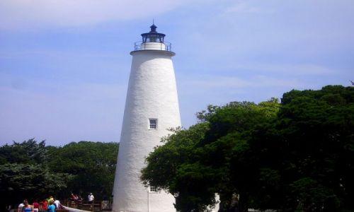 Zdjecie USA / North Carolina / Outer Banks / latarnia morska na Ocracoke Island