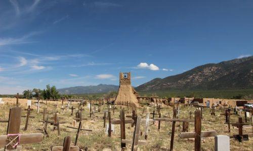 Zdjecie USA / - / Nowy Meksyk / Taos Pueblo / cmentarz