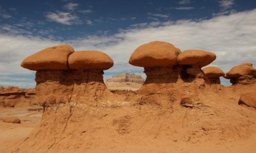 Zdjecie USA / - / Utah / Goblin Valley / Pomiedzy grzybkami