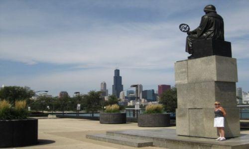 Zdjęcie USA / - / Chicago / Pomnik Kopernika w Chicago