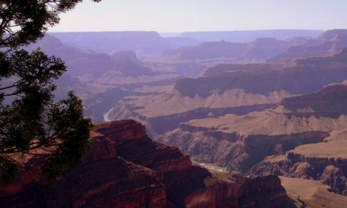 Zdjecie USA / Arizona / Grand Canyon - South Rimm / rzeka Kolorado na dnie Grand Canyon