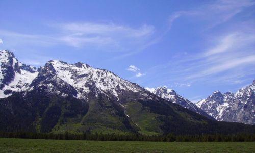 USA / Wyoming / Grand Teton Nt.Park / panorama szczytów w Grand Teton Nat.Park