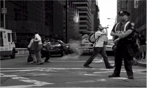 Zdjecie USA / NEW YORK / Manhattan - New York / Dymiący kanał