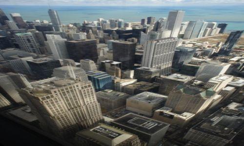Zdjęcie USA / Illinois / Chicago, Willis Tower - 103 piętro, na wysokości 412 m / Chicago, widok z Willis Tower