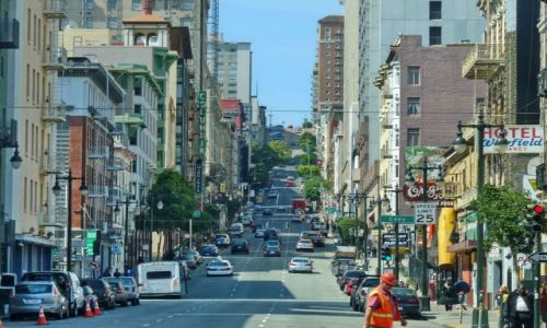 Zdjęcie USA / California / San Francisco / Górska ulica