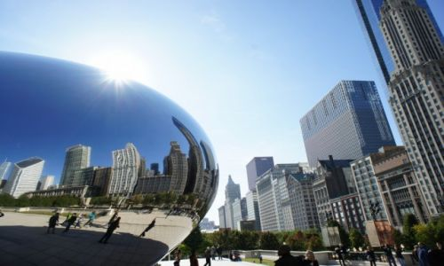 Zdjęcie USA / Illinois / Chicago / W fasolce jak w krzywym zwierciadle