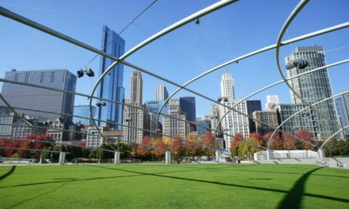 Zdjęcie USA / Illinois / Chicago / Downtown z Pritzker Pavilion