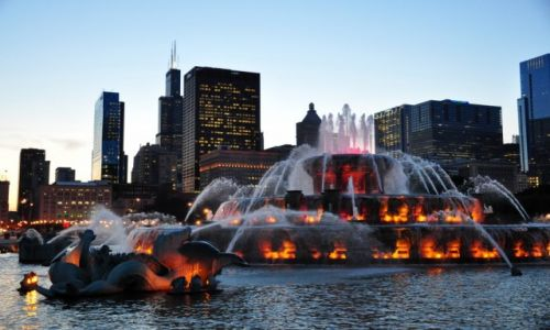 Zdjęcie USA / Michigan  / Kalamazoo / Chicago - Fontanna