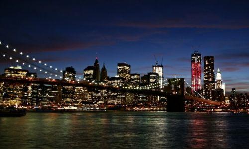 Zdjęcie USA / - / New York / Manhattan od strony Brooklyn'u