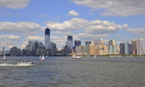 Zdjęcie USA / Nowy York / Widok z Ellis Island / Filmowy Manhattan