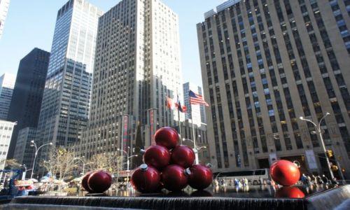 USA / New York / 50th Street / Radio City świątecznie