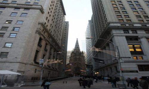 USA / New York / Wall Street / Wall Street świątecznie