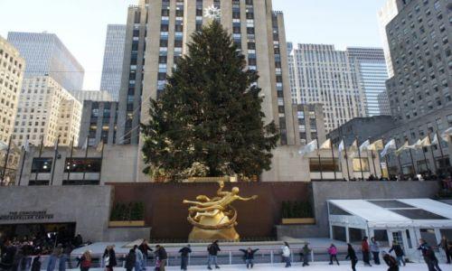 USA / New York / Rockefeller Center / Lodowisko miejskie