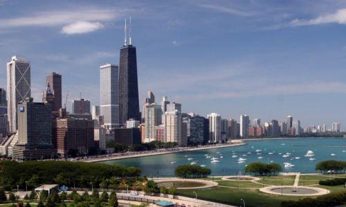 Zdjecie USA / Illinois / Chicago / Chicago downtown widziany z Navy Pier