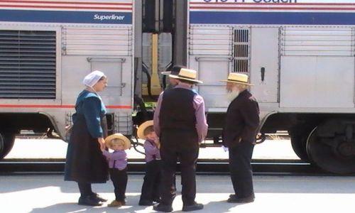 Zdjęcie USA / Nowy Meksyk / Albuquerque / Rodzina Amiszy