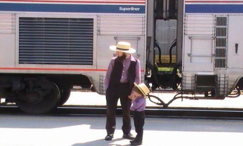 Zdjęcie USA / Nowy Meksyk / Albuquerque / Ojciec i syn
