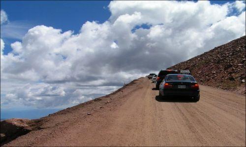 Zdjecie USA / Colorado / Pikes Peak / W korku do raju