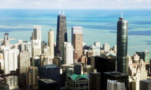 Zdjęcie USA / Illinois / Chicago, Willis Tower, z103 piętra, wys. 412 m / Widok na jezioro Michigan