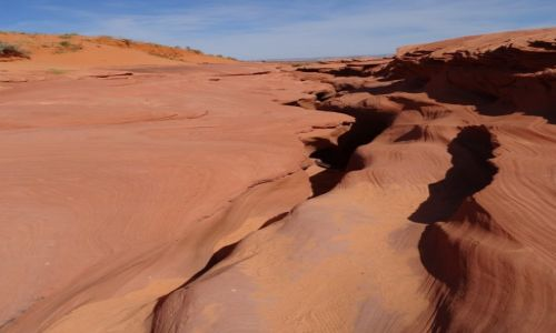 Zdjecie USA / Arizona / Kanion Antylopy dolny / Antelope Canyon - dolny, wyjście