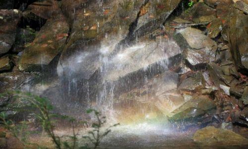 Zdjecie USA / Pensylwania / Wodospady Ricketts Glen / Zapraszam na prysznic pod tęczą