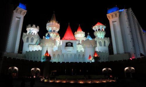 USA / Nevada / Las Vegas / Zamek dla ksi�niczek
