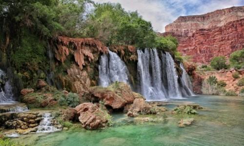 Zdjecie USA / Arizona / Wodospady Havasu / Wodospady w Grand Canyon