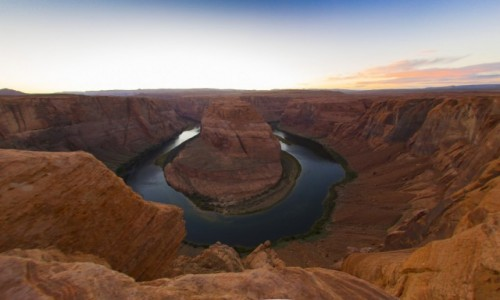 Zdjecie USA / Arizona / Page / Podkowa na Kolorado o zachodzie