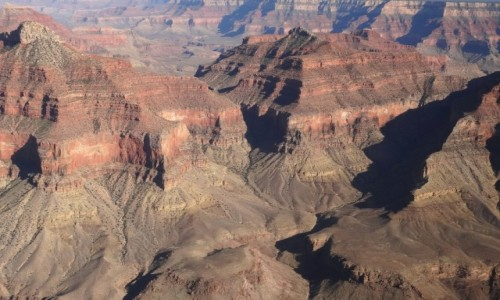 USA / Arizona / Grand Canyon / Grand Canyon z lotu ptaka