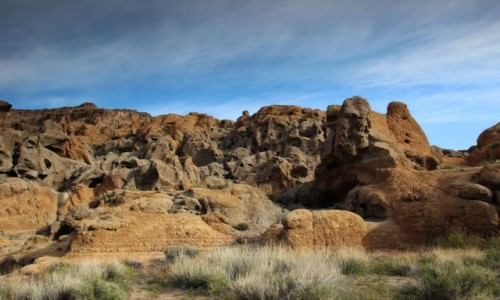 Zdjecie USA / Kalifornia / Mojave Desert / Pokr�cone g�rki